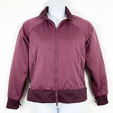 Columbia Large Track Jacket Zip Up Maroon Zip Pockets Womens Sweatshirt