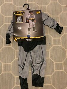 NEW NWT Batman Play Pretend Dress Up Superhero Costume Toddler 2T-3T