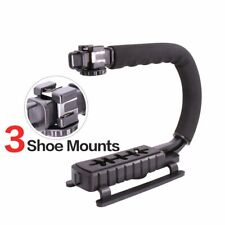 Video Camera Stabilizer Shoe Mount Handle Grip Rig Iphone Canon Nikon DSLR New N