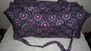 Vera Bradley Extra Large XL Duffel Bag LILAC (Purple)MEDALLION NEW wtag Washable