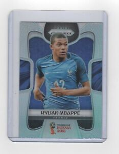 PANINI PRIZM WORLD CUP 2018- #80- KYLIAN MBAPPE - SILVER PRIZM CARD - RC ROOKIE