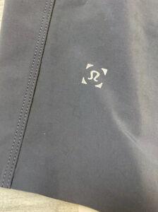 Men's Lululemon Gray Drawstring Shorts Sz S - No Liner - Perforated - Zip Pocket