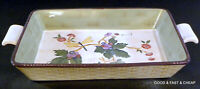 TRACY PORTER Caret Collection Rectangular Baker Casserole Dish Grapes Dragonfly