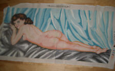 Big Beautiful Margot Paris Nude Naked Woman almost completed needlepoint