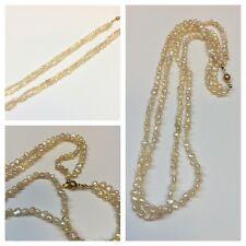 Collar de perlas Dos Filas Agua Dulce 333ER goldverschluß oro