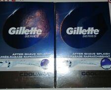 2 Pack Gillette Series After Shave Splash, Cool Wave, 3.3 fl oz