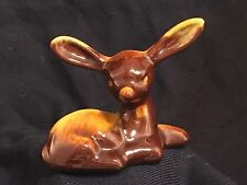 VTG BLUE MOUNTAIN CANADIAN RED CLAY DEER / FAWN FIGURINE REFLOW GLAZE POTTERY