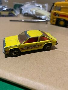 Vintage Hotwheels CHEVY CITATION YELLOW WITH RED SIDE TAMPO VARIATION GHO!