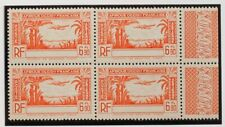 Costa de Marfil, Aéreo. MNH **Yv 5a(4). 1940. 6´90 f naranja, bloque de cuatro.