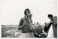 GRECE c. 1938 - Fillette Marchande de Fleurs Grèce - DIV 3524