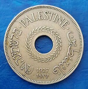 Israel Palestine British Mandate 20 Mils 1927 Coin XF