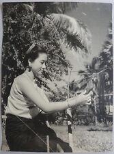 Photo Jeune Femme Vietnam Indochine Vers 1960