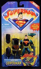 "1996 KENNER SUPERMAN ANIMATED SERIES DEEP DIVE SUPERMAN 5"" ACTION FIGURE MOC"