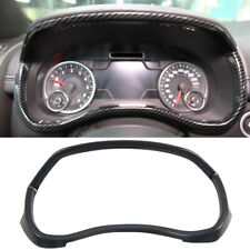 Carbon Fiber Look Dashboard Meter Frame Cover Trim For Dodge Ram 1500 2019-2020