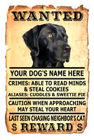 Labrador Retriever Wanted Poster Flex Fridge Magnet Personalized Black Lab
