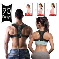 Women Men Posture Corrector Adjustable Back Brace Clavicle Shoulder Support Belt