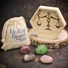 Healing Stones for You: Libra Zodiac Crystals with Handmade Zodiac Dish