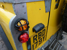 Land Rover Series 3 Defender 90 110 NAS Wipac Plastic Light Guards Trim Set x8