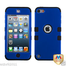 Apple iPod Touch 5 T Armor Hybrid Case Skin Cover Accessory Blue Black