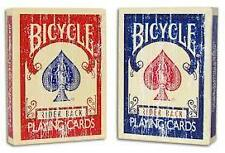 2 pack FADED Bicycle deck playing cards old vintage red blue magic trick gaff