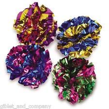Giant Mylar Balls - Lots 1/2/4/8 Big Shiny Crinkle Crackle Lightweight Cat Toys