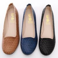 BN Womens Braided Casual Walking Work Flats Shoes Loafers Ballet Flats Oxfords