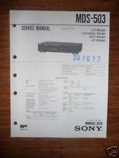 Service Manual-Anleitung für Sony MDS-503  Mini Disc Deck,ORIGINAL