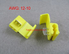 50PCS Yellow Scotch Lock Quick Splice 12-10 AWG Wire Connector