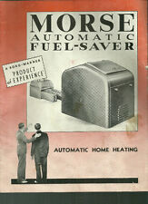 Morse Automatic Fuel-Saver Automatic Home Heating brochure Borg Warner