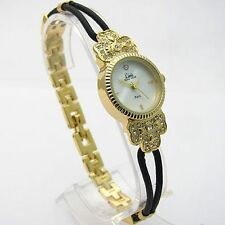 GIFT! Limit Ladies Cocktail Watch Diamante Mother-of-pearl 6724 Gold-tone