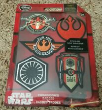 NEW SET OF 5 - The Force Awakens : DISNEY STAR WARS EMBROIDERED PATCHES BADGES
