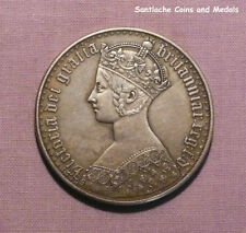 1853 QUEEN VICTORIA GOTHIC CROWN - Nicely Toned - VERY GOOD COPY