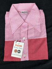 Vintage Pink King Louie Bowling Shirt 36 NWT Polyester PBA Made In USA Plaid