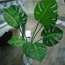 12pcs Artificial Plants Turtle Leaves Palm Tree Popular Single Greenery Pick