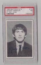 1964 The Beatles B/W George Harrison 3Rd Series Card #155 Psa 7 Nm & Centered