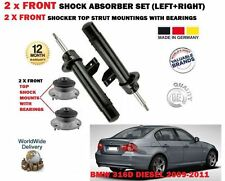 FOR BMW 316D E90 2009-2011 2x FRONT SHOCK ABSORBER SET + 2X STRUT MOUNTINGS KIT