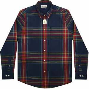 New Mens Barbour Highland Check 44 Shirt, Navy, BNWT