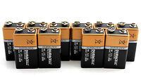 (Pack of 12) Duracell 9V Battery Alkaline 9 Volt Duralock 6LR61 MN1604 BULK-2019