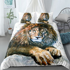 Brown Lion Twin/Full/Queen/King Size Bed Duvet Cover Set Bedding Set Pillowcase