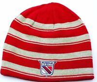 New York Rangers CCM NHL Classic Reversible Striped Hockey Hat Beanie Toque