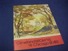 Cleveland Browns vs Chicago Bears 1971 Program