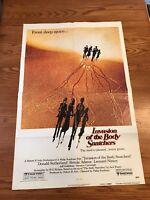 INVASION OF THE BODY SNATCHERS original movie poster 1978 Advance 1 Sheet Sci-Fi