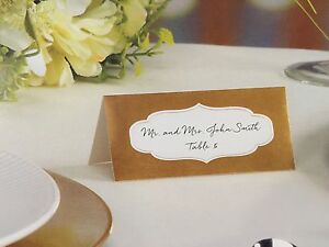 72 PCS SILVER/GOLD FOIL PLACE CARDS RECEPTION SEATING TABLE CARDS VICTORIA LYNN