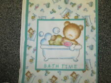 BABY BATH TIME RUBBER DUCKIES SAIL BOATS FLEECE FABRIC PANEL OOP