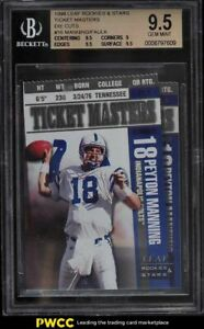 1998 Leaf R & S Ticket Masters Die-Cut Peyton Manning Faulk ROOKIE /2500 BGS 9.5