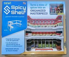 SET OF 2 SPICY SHELF STACKABLE ORGANIZER FOR CUPBOARDS & CABINETS SPICES CRAFTS