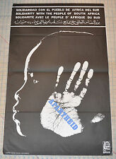 Political OSPAAAL Solidarity Original 1978 Cuban POSTER.South Africa