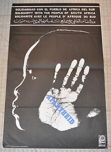Political OSPAAAL Solidarity Original 1978 Cuban POSTER.South Africa.Very rare!