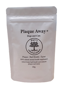 Plaque Away- Dogs & Cats- 60g & 150g-Removes Bad Breath Plaque& Tartar