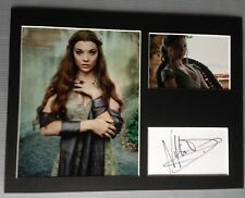 [A0390] Natalie Dormer Signed Game of Thrones 12x16 Display AFTAL
